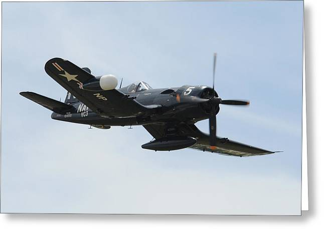 Usmc Base Greeting Cards - Corsair 04 Greeting Card by Jeff Stallard