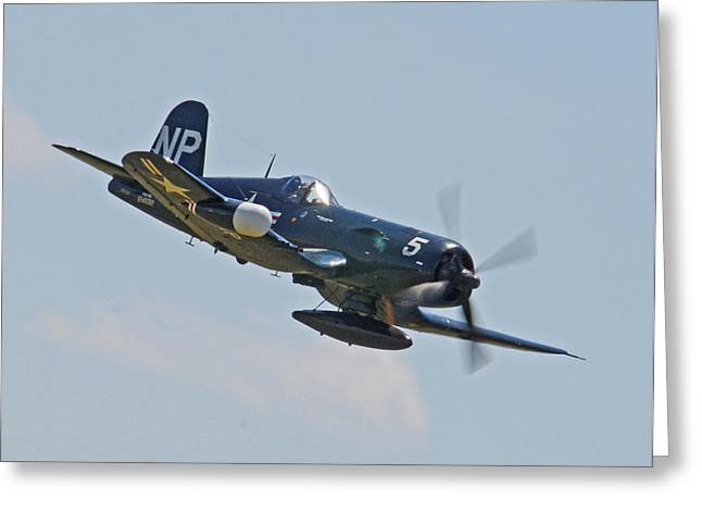 Usmc Base Greeting Cards - Corsair 06 Greeting Card by Jeff Stallard