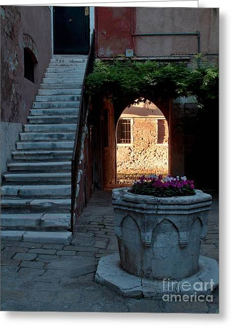 Entrance Door Greeting Cards - Corte della Comare Greeting Card by Heiko Koehrer-Wagner