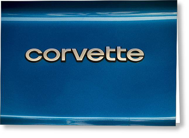Exotic Greeting Cards - Corvette Badge Greeting Card by Douglas Pittman