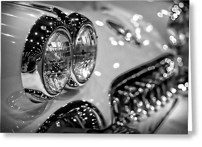 Indianapolis 500 Greeting Cards - Corvette Bokeh Greeting Card by Gordon Dean II