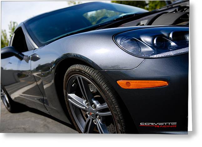 Chevrolet Greeting Cards - Corvette Racing Greeting Card by Shane Kelly