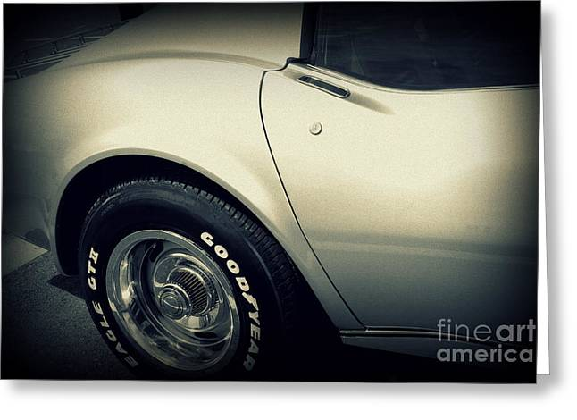 Auction Greeting Cards - Corvette Greeting Card by Susanne Van Hulst