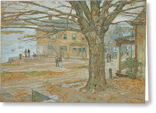 Winter Pastels Greeting Cards - Cos Cob in November Greeting Card by Childe Hassam