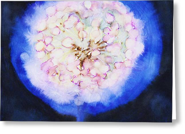Cosmic Bloom Greeting Card by Tara Thelen