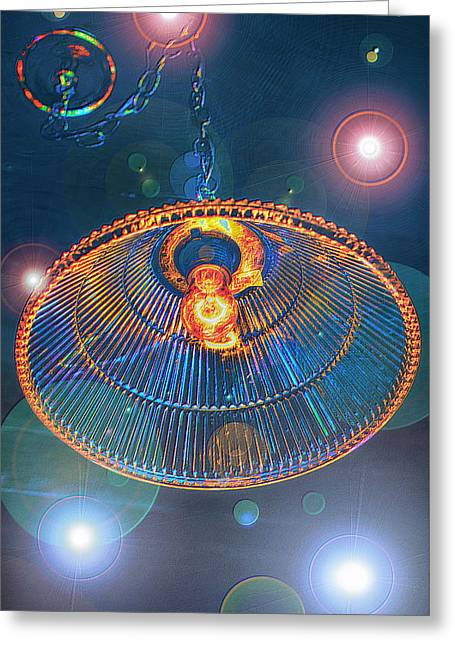 Glass Ceiling Greeting Cards - Cosmic Disco Greeting Card by Bill Tiepelman
