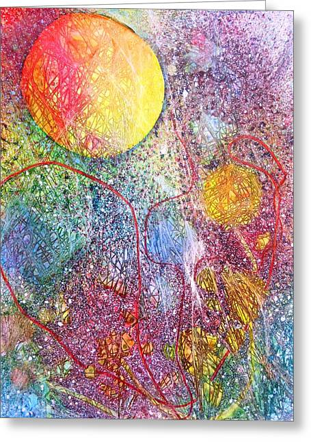 Outer Space Paintings Greeting Cards - Cosmic Journey Greeting Card by David Raderstorf