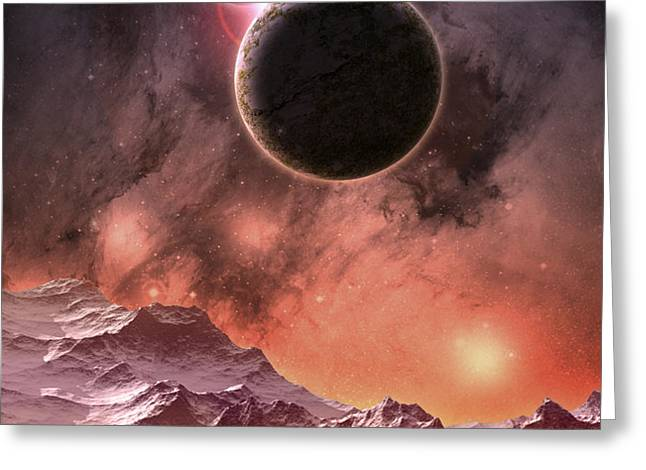 Cosmic Range Greeting Card by Phil Perkins