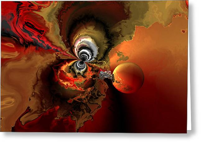 Colorful Abstract Algorithmic Contemporary Greeting Cards - Cosmic storm Greeting Card by Claude McCoy