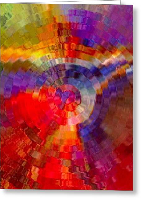 Visionary ist Mixed Media Greeting Cards - Cosmic Vibrations Greeting Card by Larian Art