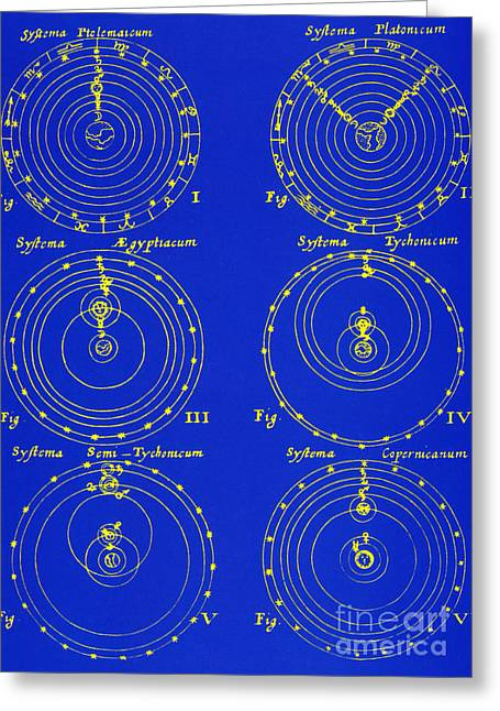 Cosmological Greeting Cards - Cosmological Models Greeting Card by Science Source