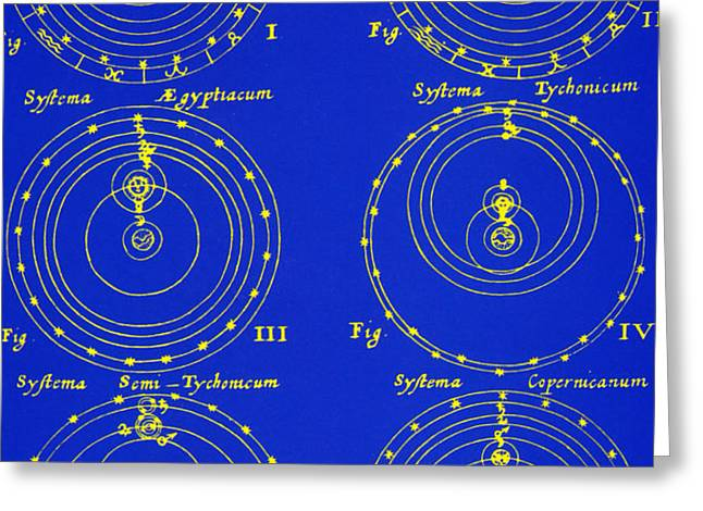 Cosmological Models Greeting Card by Science Source