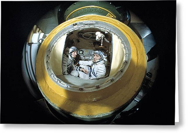 Spacesuit Greeting Cards - Cosmonaut Training Greeting Card by Ria Novosti