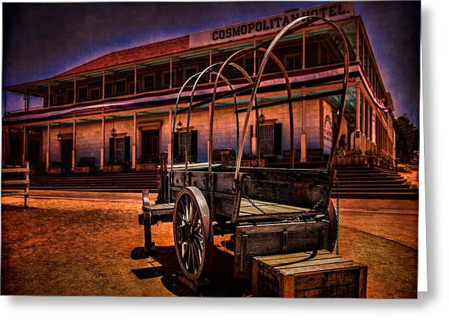 Old Town Digital Greeting Cards - Cosmopolitan Hotel  Greeting Card by Chris Lord