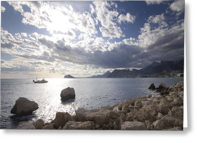 Costa Blanca Greeting Cards - Costa Blanca Greeting Card by Angel  Tarantella