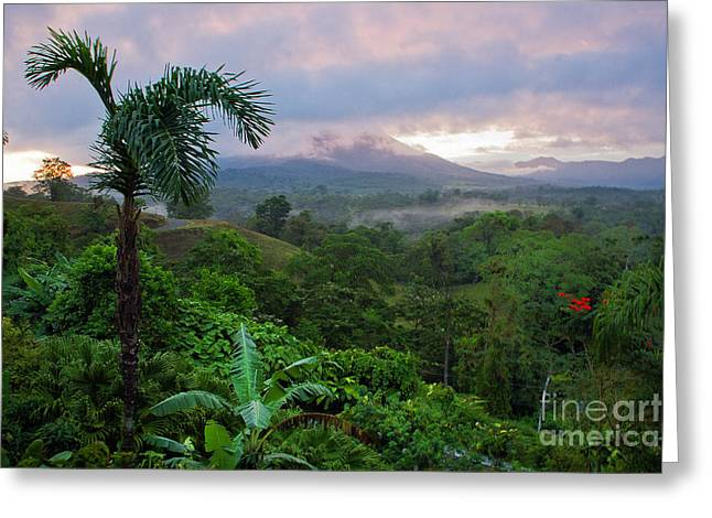 Costa Greeting Cards - Costa Rica Volcano View Greeting Card by Madeline Ellis