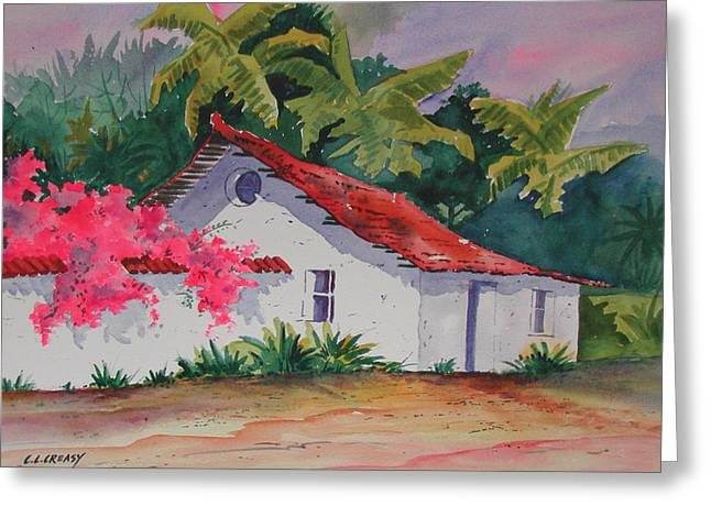 Costa Greeting Cards - Costa Rican cottage Greeting Card by Chuck Creasy