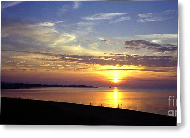 Kattegat Greeting Cards - Costal sunset Greeting Card by E Petersen