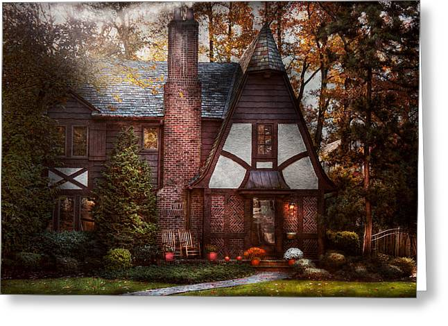 Cottage - Westfield NJ - A place to retire Greeting Card by Mike Savad