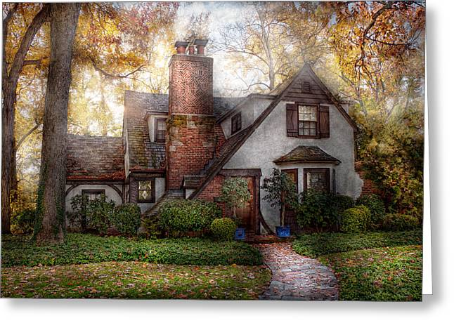 Charming Cottage Greeting Cards - Cottage - Westfield NJ - Grandma Ridinghoods house Greeting Card by Mike Savad