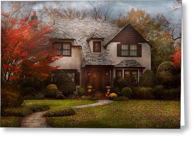 Charming Cottage Greeting Cards - Cottage - Westfield NJ - The country life Greeting Card by Mike Savad