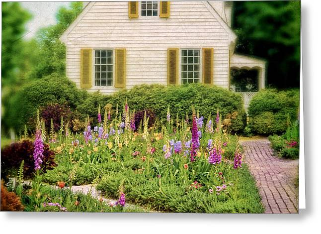 Cottage and Garden Greeting Card by Jill Battaglia