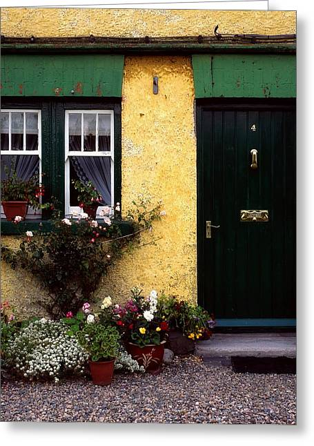 Union Square Greeting Cards - Cottage At Bushmills, Co Antrim, Ireland Greeting Card by The Irish Image Collection