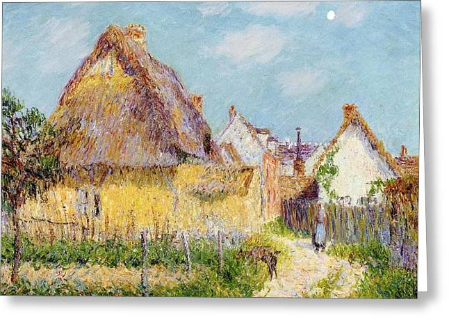 Figure In Oil Greeting Cards - Cottage at Le Vaudreuil Greeting Card by Gustave Loiseau