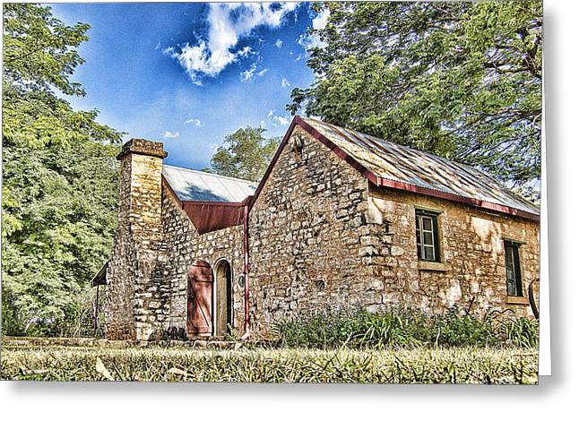 Stone House Greeting Cards - Cottage by the River Greeting Card by Douglas Barnard