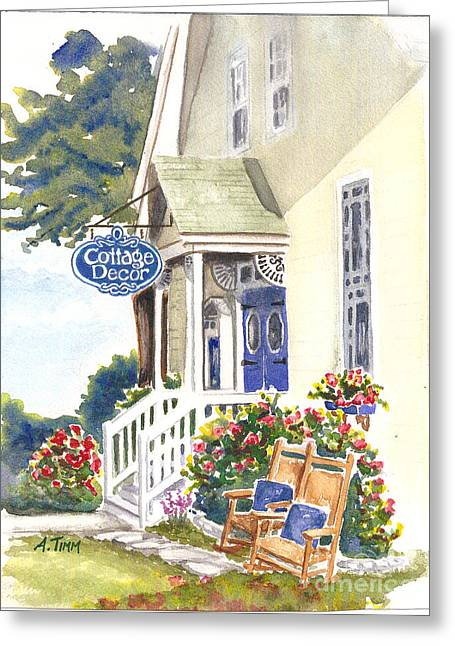 Andrea Timm Greeting Cards - Cottage Decor Greeting Card by Andrea Timm