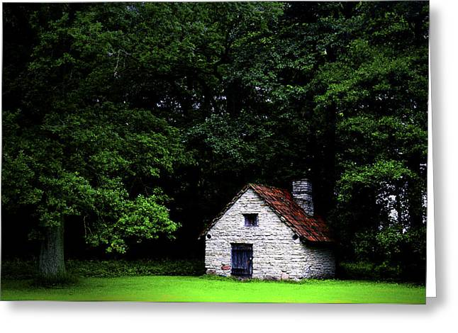 Cottage in the woods Greeting Card by Fabrizio Troiani