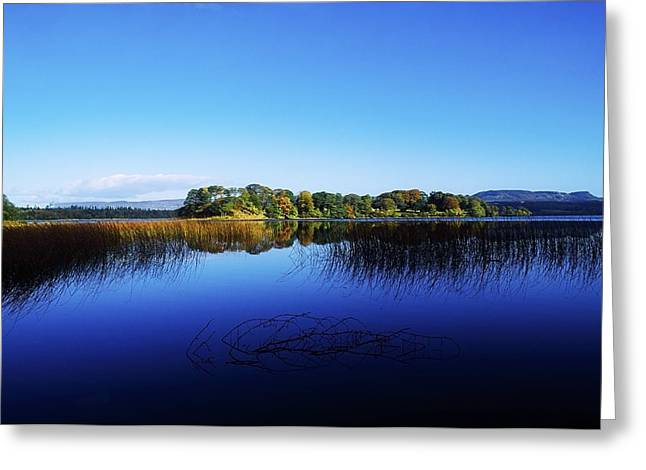 Reflections Of Sky In Water Photographs Greeting Cards - Cottage Island, Lough Gill, Co Sligo Greeting Card by The Irish Image Collection