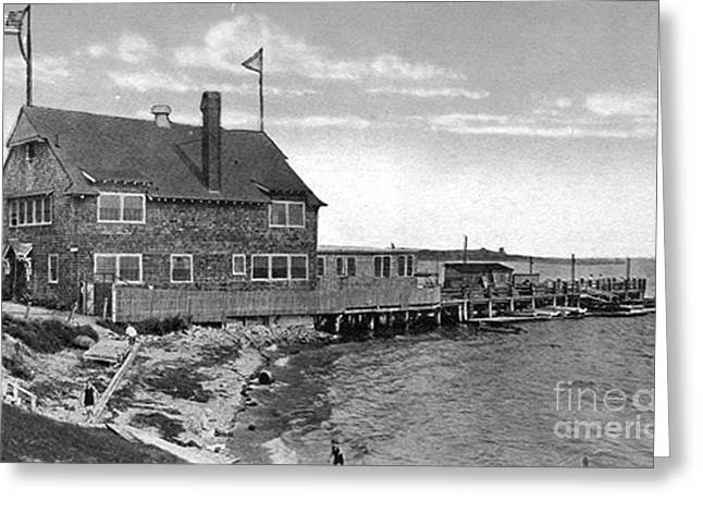 Winthrop Greeting Cards - Cottage Park Yacht Club 1902 Greeting Card by Extrospection Art