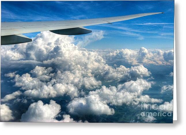 High Altitude Flying Greeting Cards - Cotton Balls Greeting Card by Syed Aqueel