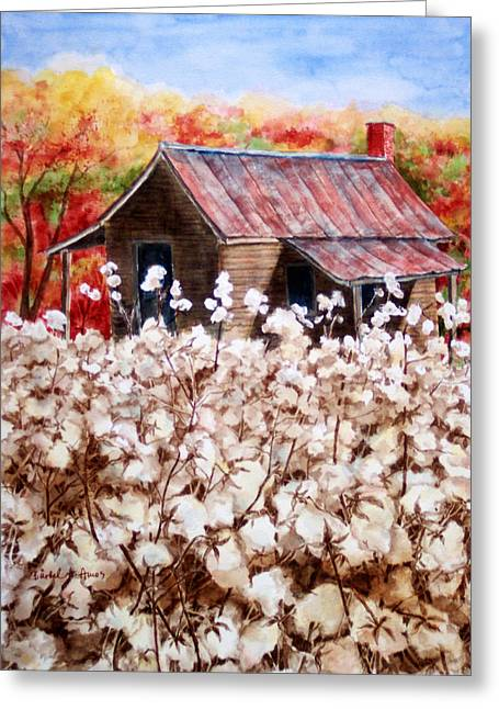Old Paintings Greeting Cards - Cotton Barn Greeting Card by Barbel Amos