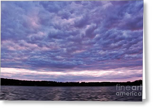 Cotton Candy Clouds Greeting Card by Jill Hyland