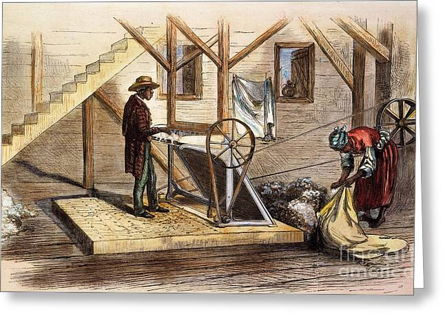 Sharecropper Greeting Cards - Cotton Gin, 1871 Greeting Card by Granger