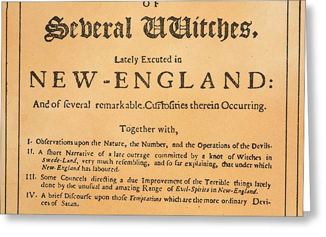 COTTON MATHER, 1693 Greeting Card by Granger
