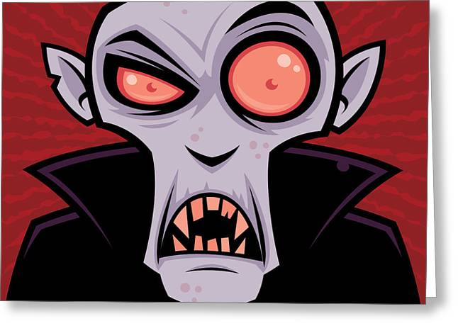 Clips Greeting Cards - Count Dracula Greeting Card by John Schwegel