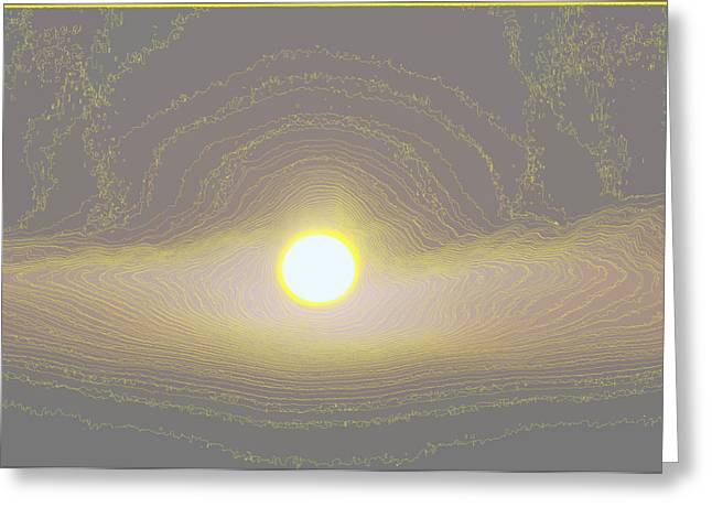 Sunrise Digital Art Greeting Cards - Countours  Greeting Card by Jeff  Swan