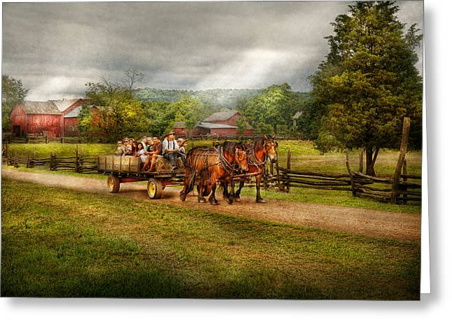 Custom Horse Portrait Greeting Cards - Country - Horse - Lifes Pleasures Greeting Card by Mike Savad