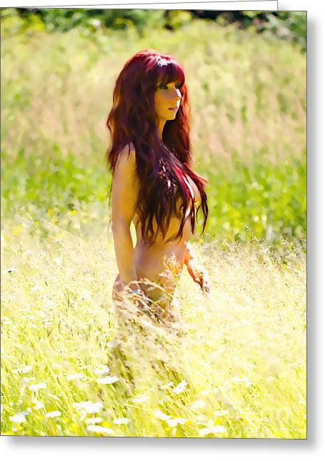 Hair Color Greeting Cards - Country Beauty Greeting Card by Naman Imagery