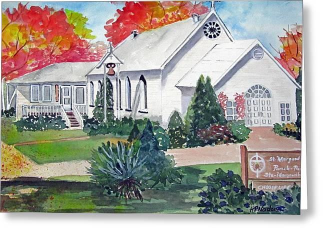 Heidi Patricio-nadon Greeting Cards - Country Church Greeting Card by Heidi Patricio-Nadon