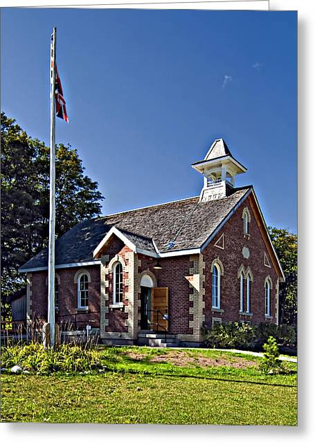 Grey Roots Museum Greeting Cards - Country Church Greeting Card by Steve Harrington