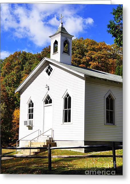 Country Church Greeting Cards - Country Church Greeting Card by Thomas R Fletcher