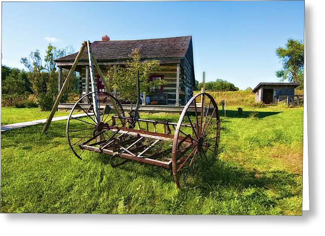 Grey Roots Museum Greeting Cards - Country Classic oil Greeting Card by Steve Harrington