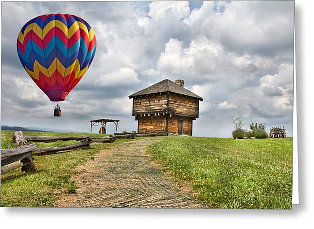 Baloon Greeting Cards - Country Cruising  Greeting Card by Betsy A  Cutler
