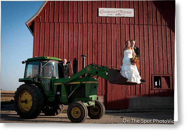 Farm Sculptures Greeting Cards - Country farm Wedding Greeting Card by Sidney Dumas