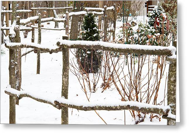 Cedar Fence Greeting Cards - Country Fence 2 Greeting Card by Douglas Barnett