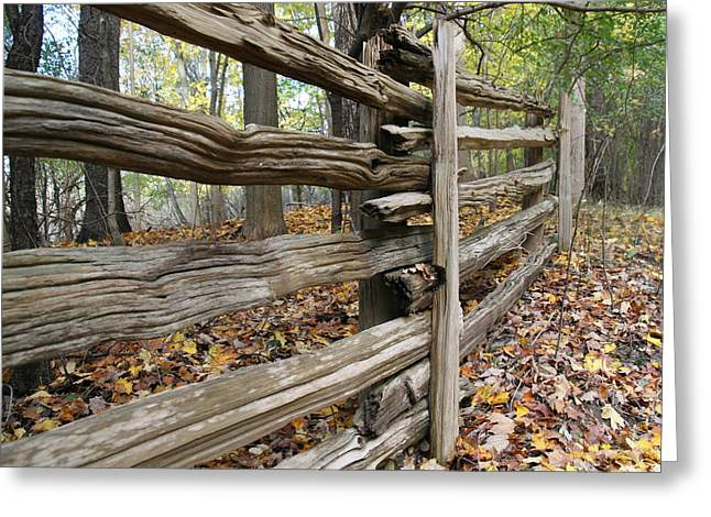 Jim Nelson Greeting Cards - Country Fence Greeting Card by Jim Nelson